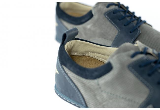 FÉRFI SZÜRKE SÖTÉTKÉK SPORTCIPŐ Kavaler valódi bőr férfi cipők